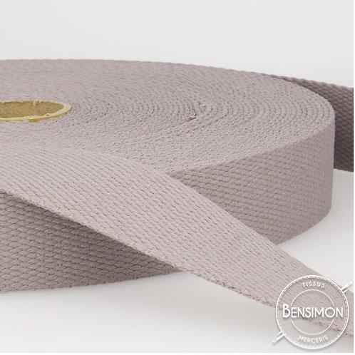 Sangle sac 100% coton 30mm gris taupe