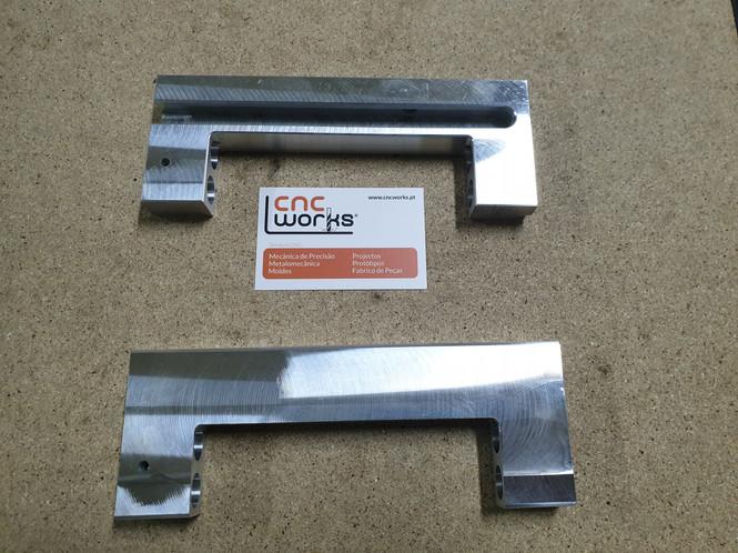 peças em aluminio