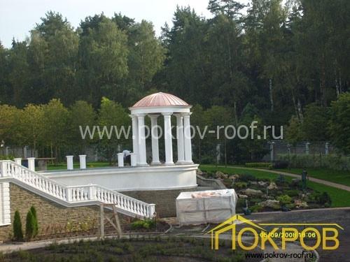 Московская область. Медная кровля, малые архитектурные формы