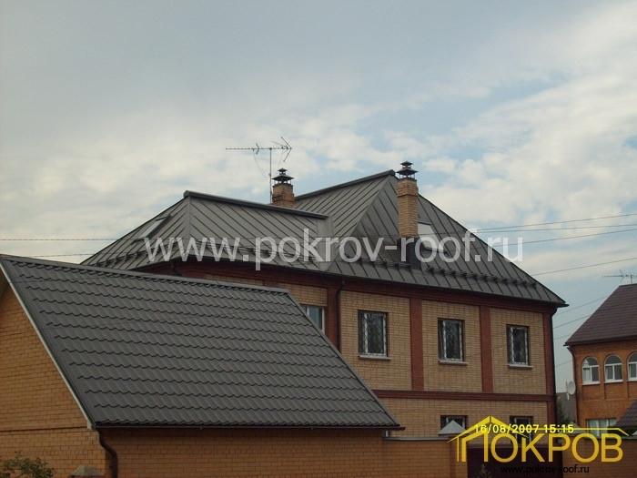 Московская область. Жилой дом. Кровля из оцинкованной стали
