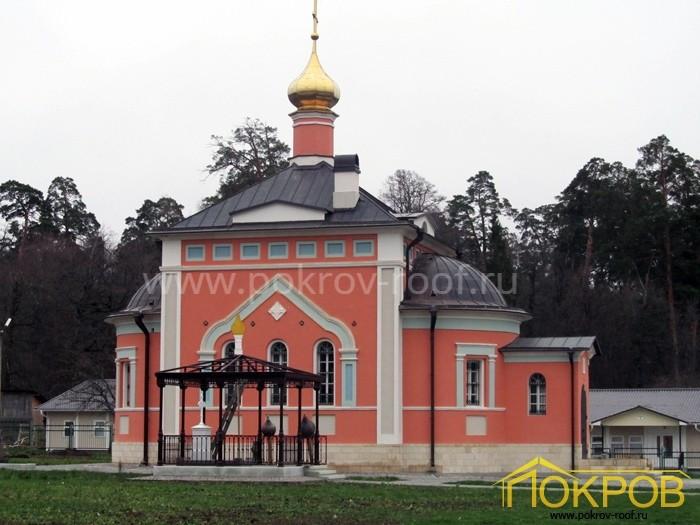 Калужская область, город Козельск. Оптина Пустынь, Храм всех святых. Медная кровля