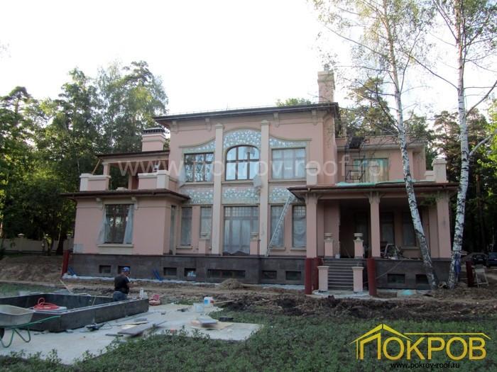 Московская область. Жилой дом. Медная кровля