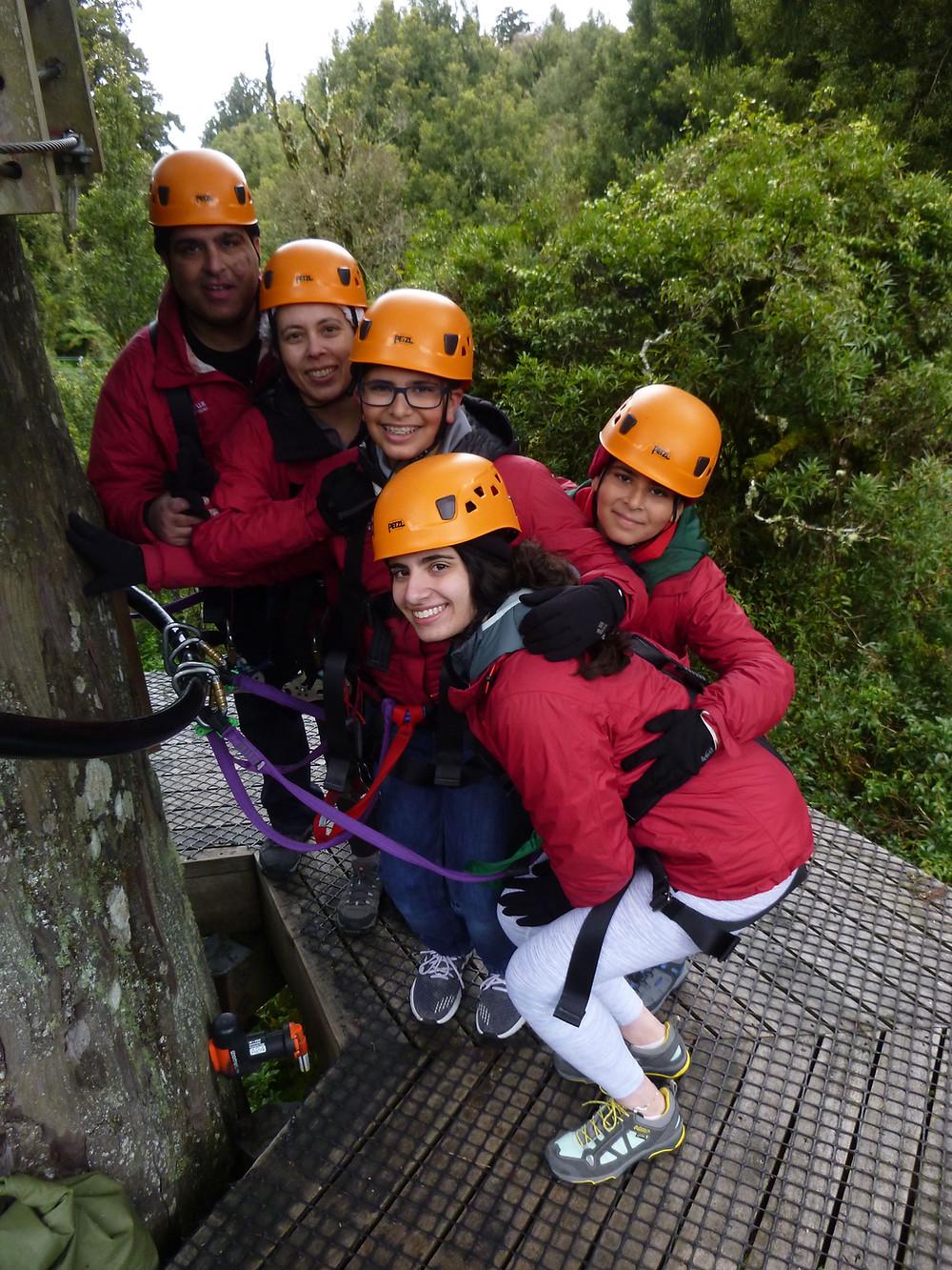 Zip lining in Rotorua