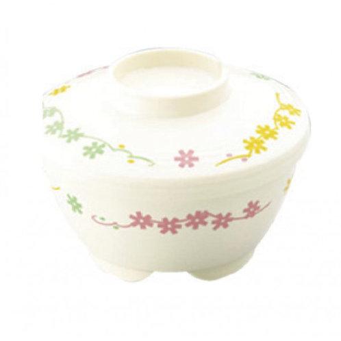 日本Sanshin保溫碗連蓋(白色碗碎花圖案)