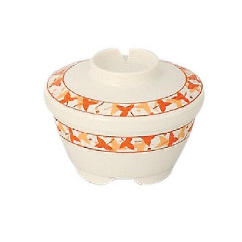 日本Sanshin保溫碗連蓋(白色碗楓葉圖案)