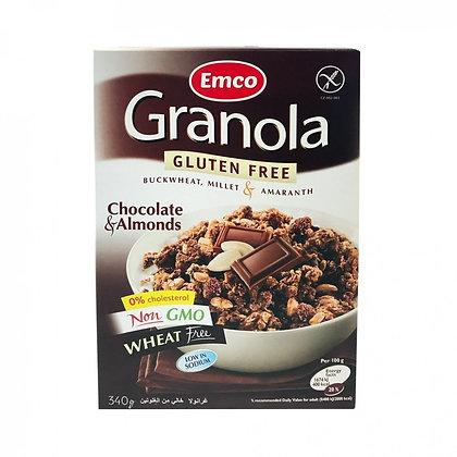 Granola de Chocolate y Almendras Emco 340gr.
