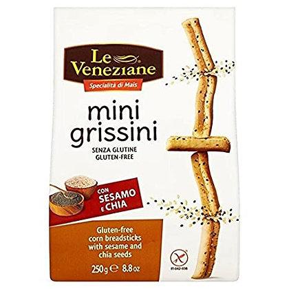Mini Grissines Con Sésamo Y Chía 250gr.