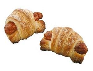 Mini Croissant relleno de Frankfurt 35gr. x 4 uds.