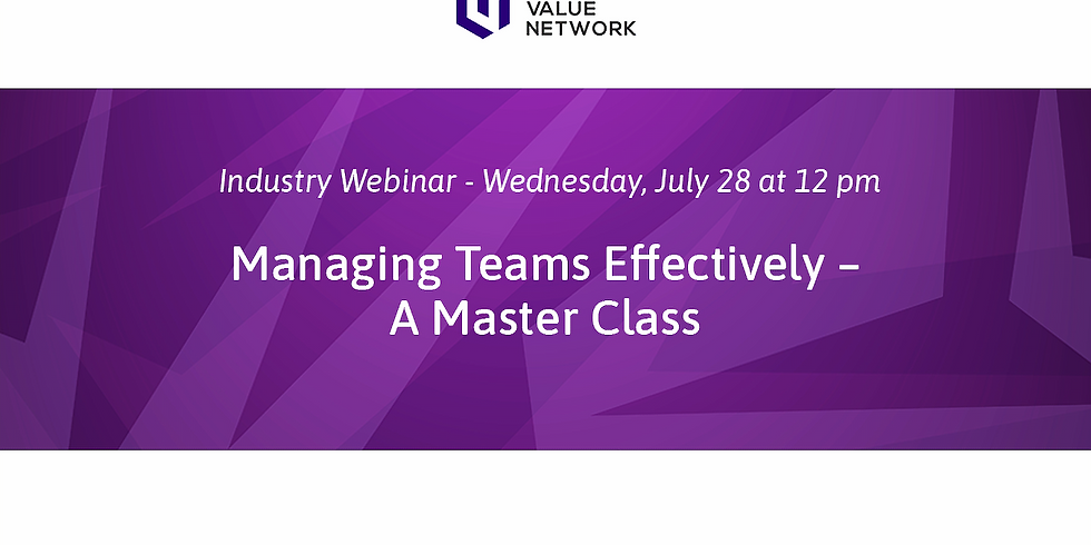 Managing Teams Effectively – A Master Class