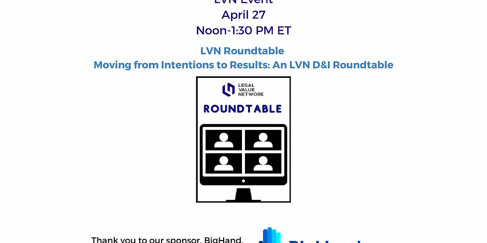 Moving from Intentions to Results: An LVN D&I Roundtable