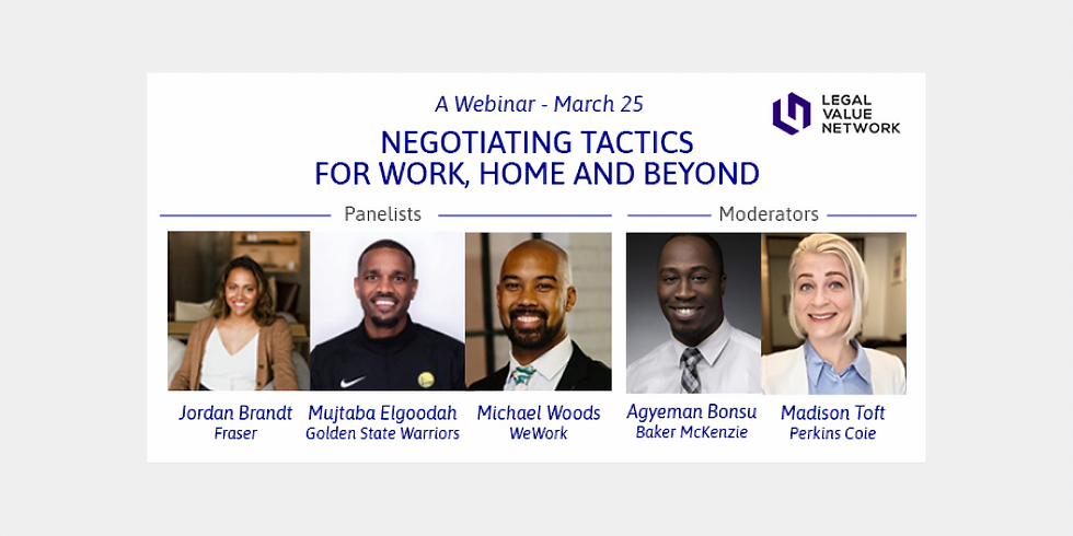Negotiating Tactics for Work, Home and Beyond