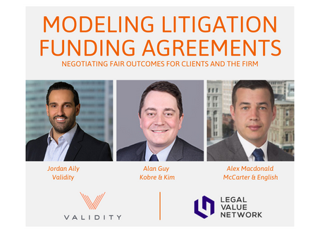 Learn More About our September 16 Program on Modeling Litigation Funding Agreements