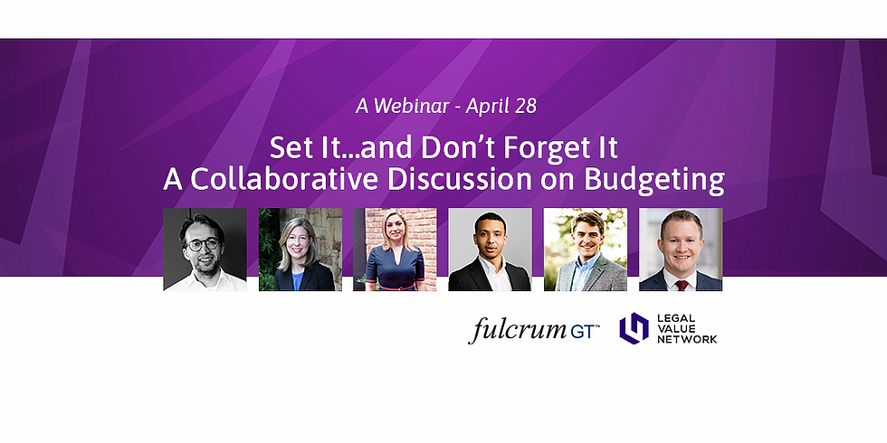 Set It…and Don't Forget It – A Collaborative Discussion on Budgeting