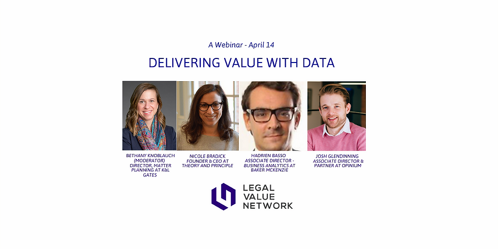 Delivering Value with Data