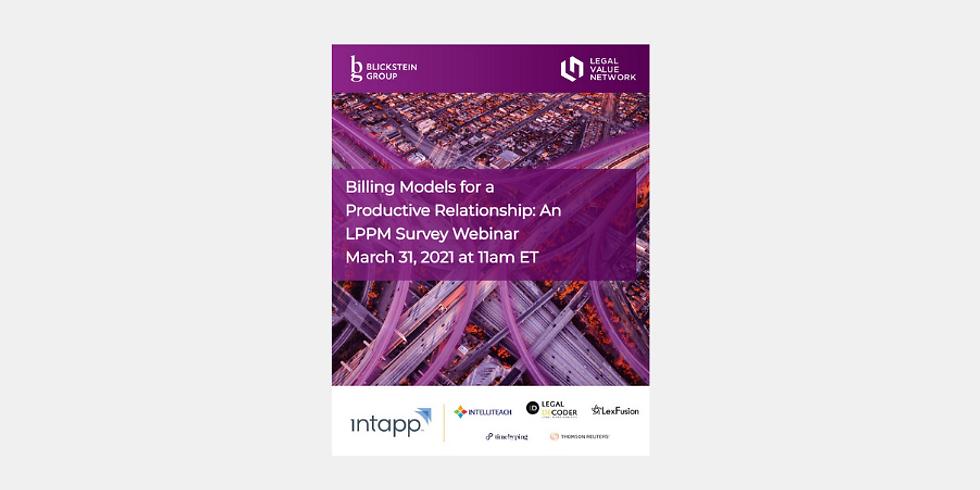 Billing Models for a Productive Relationship: An LPPM Survey Webinar