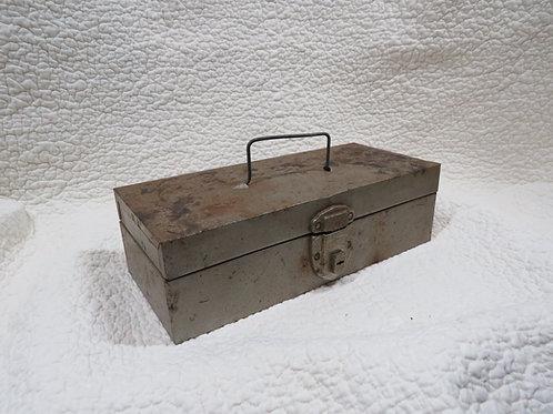 Metal tool Box Vintage Old Patina