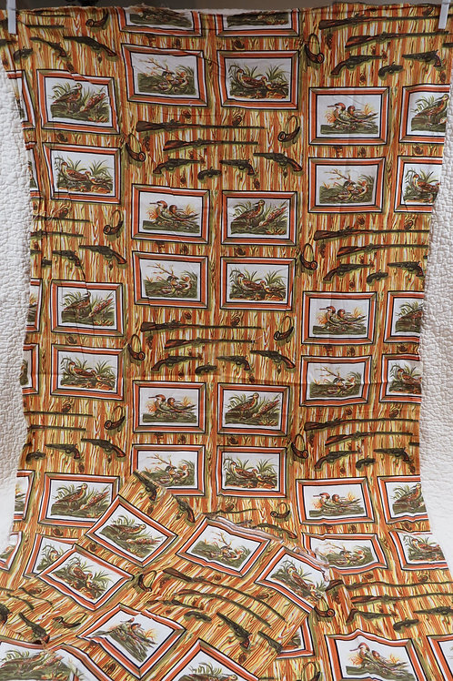 Fabric Duck Hunting Cotton Vintage