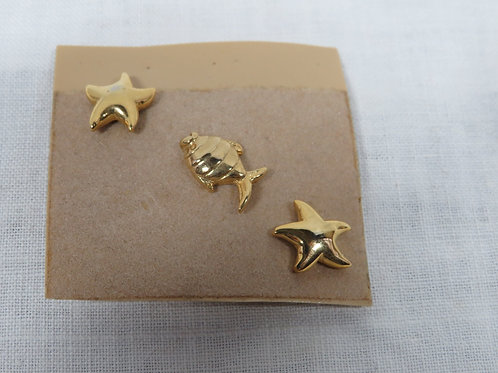 3 Nautical Retro Pins nos Vintage Items