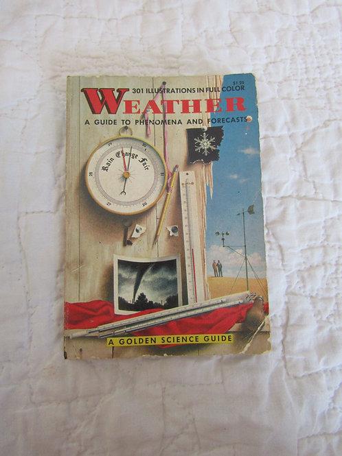 Vintage Weather Paperback Book Color Illustrations 1975