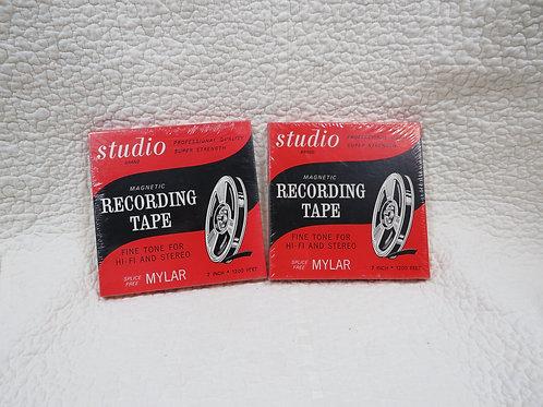2 Magnetic Recording Tapes NOS Vintage