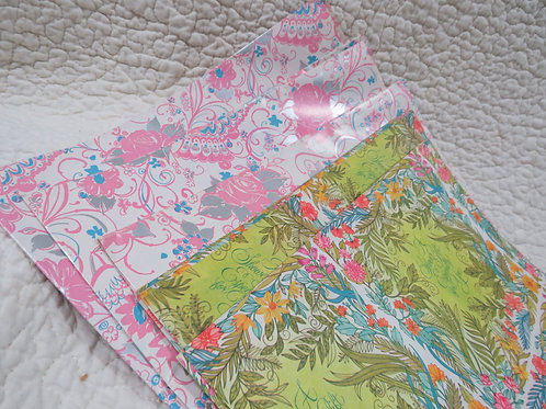 6 full Sheets Wrapping paper Shower Vintage