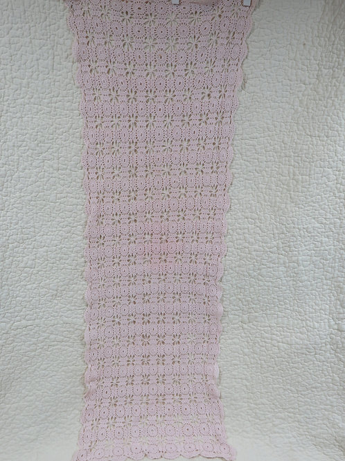 Pink Lace Table Runner Vintage Item