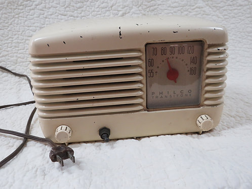 Philco Transitone Tube Radio Non Functioning Vintage