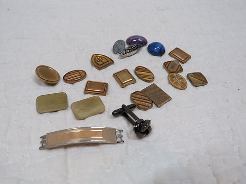 19 Jewelry Salvage nos most Vintage many brass