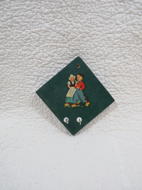 Wall Hanging with hooks Vintage Item