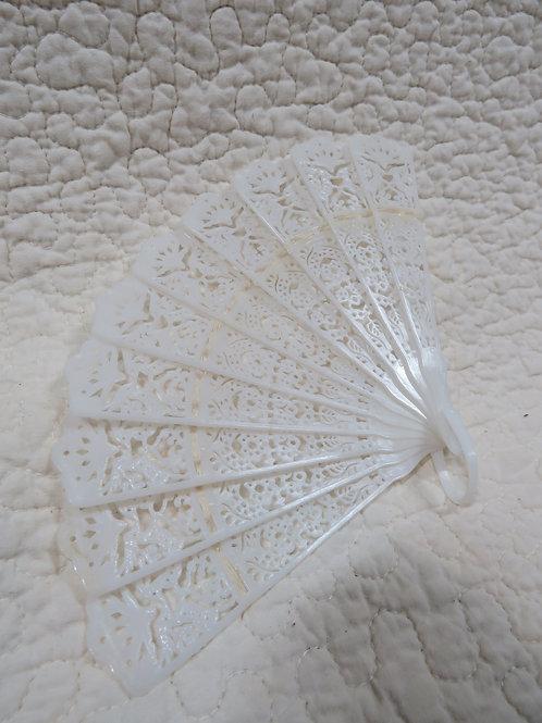 White Fan Plastic nos vintage item