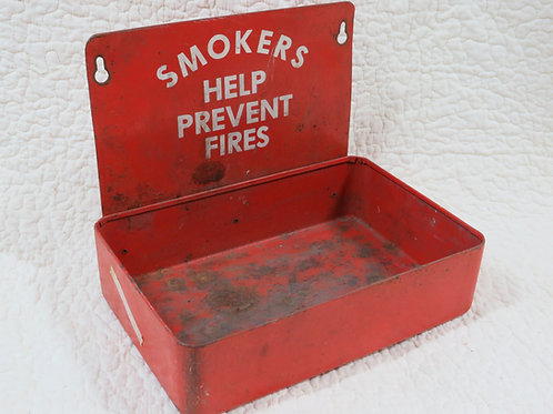 Large Ashtray Metal Smokers Help Prevent Fires Vintage Item