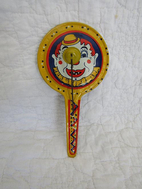 Vintage Noise Maker Marked Clown Theme