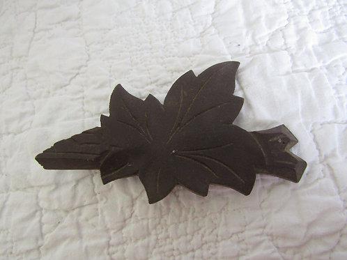 Vintage Architectural Piece Carved Leaf