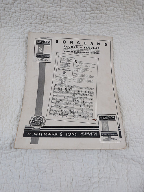 Sheet Music French Composers Antique