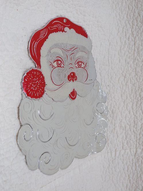 Foil Santa Clause vintage item