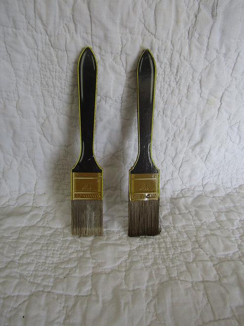 "2 Vintage Paintbrushes 3M 1 1/2"""