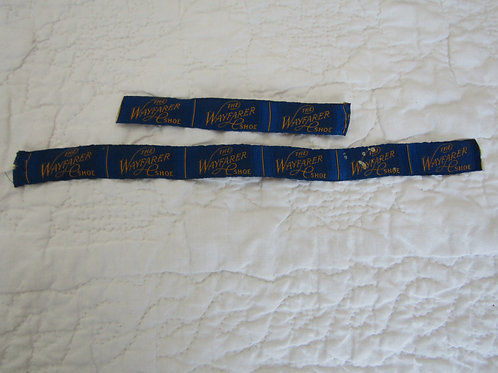 Lot of 8 Vintage Fabric Labels from The Wayfarer Shoe