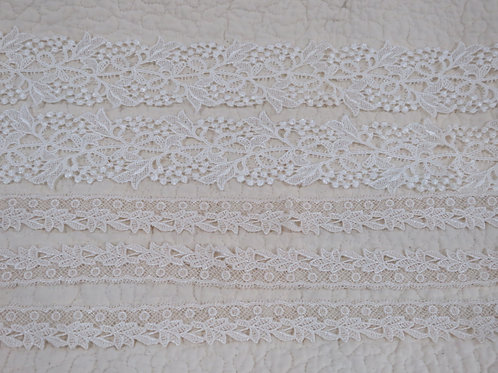 3 yards Lace White and Ecru Bridal stock