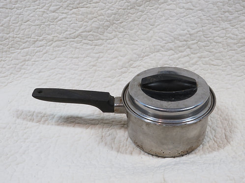 Metal Pot with Cover mid century vintage