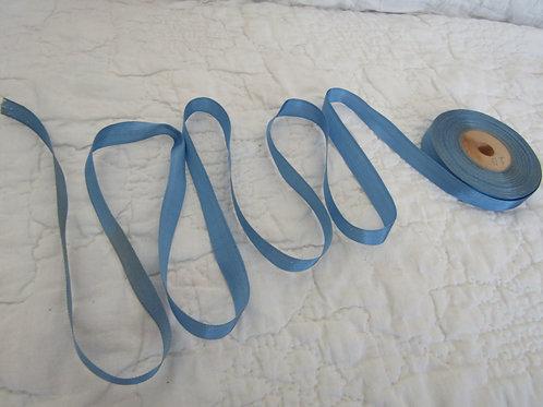 """Wholesale Vintage Medium Blue Ribbon on wood spool 1/2"""""""