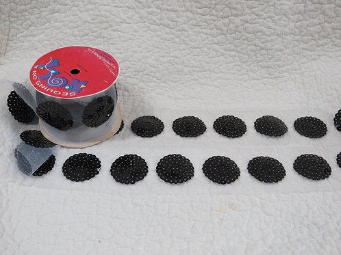 Black Circle Sequin appliques nos
