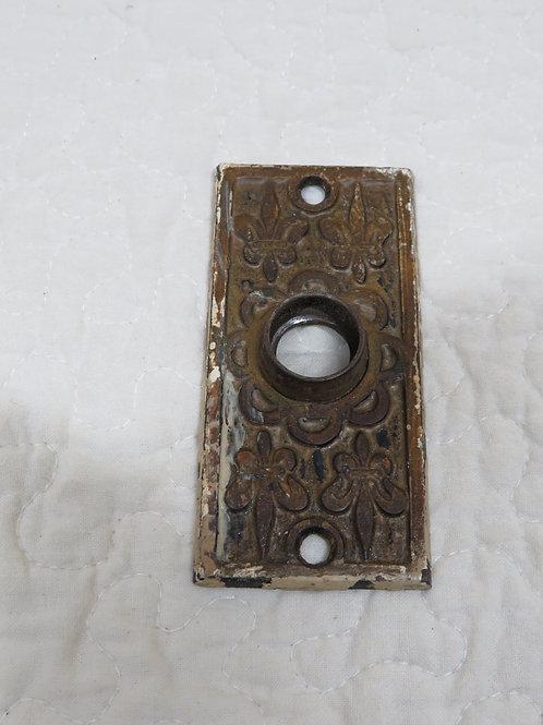 Door Plate Ornate Metal Vintage Eastlake