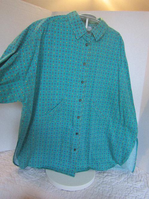 Retro Shirt Jacket 1980's size 22/24