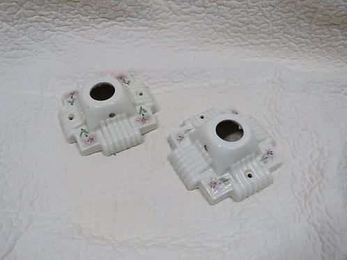 2 Porcelain Ceiling Lights Vintage