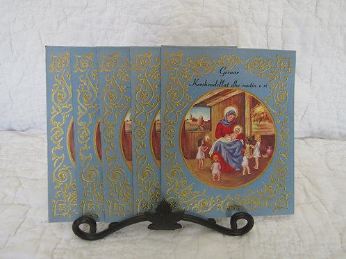 5 Vintage Albanian Christmas Cards New Unused Lot of 5