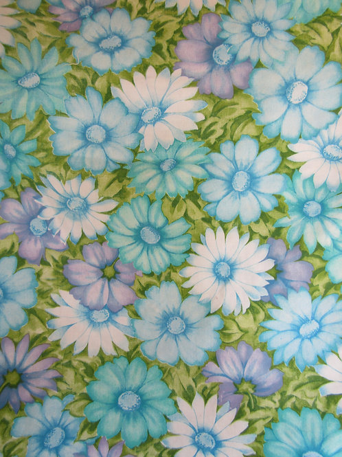 Vintage Floral Cotton Fabric 1 yard x 72 inches wide