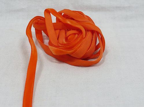 4 yards Orange Velvet 1/4 inch ribbon vintage