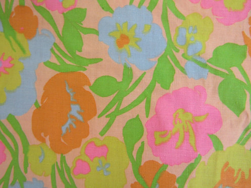 2 yards Cotton Fabric Vintage Item