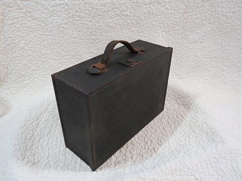Storage Box Leather Handle Vintage
