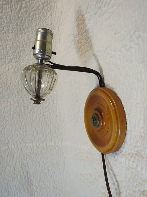 Wall light Sconce Wood glass Detail Vintage
